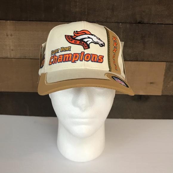 Vintage Denver Broncos back to back super bowl hat ee8f226ab